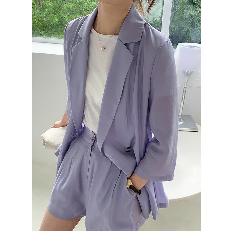 Acme Ground Đồ Suits Quần short phù hợp với áo hai dây nữ 2020 mùa hè phiên bản mới của Hàn Quốc của