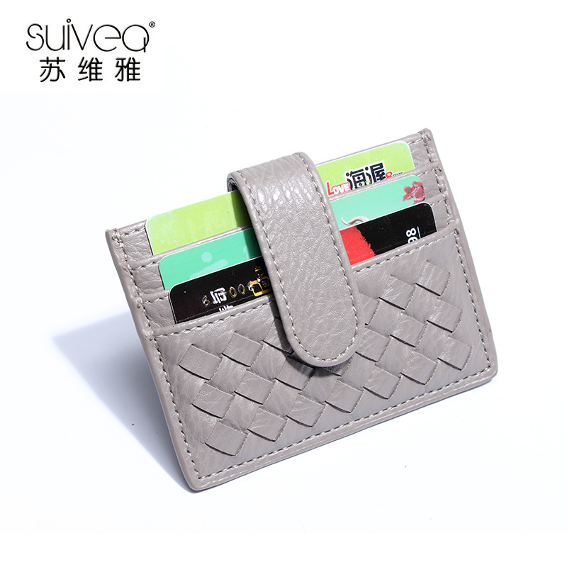 SUWEIYA Ví đựng thẻ Gói thẻ 2020 nhà máy mới bán buôn phụ nữ dệt thẻ gói nam chủ thẻ ví công nhân ch