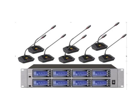 Micro không dây cầm tay dùng cho hệ thống hội nghị .