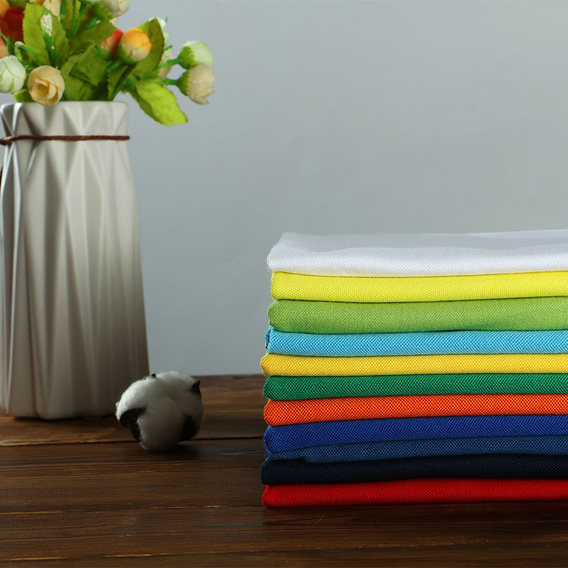 JISEN Vải dệt may Han Yi vải dệt lưới vải dệt kim vải chải bông hạt đất học sinh đồng phục áo thun v