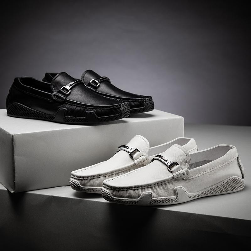 Giày mọi Gommino Giày da nam đậu Hà Lan nhà ga châu Âu thời trang bình thường kinh doanh giày mùa hè