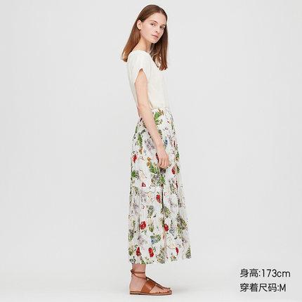 UNIQLO váy  【Hợp tác thiết kế】 Váy dài (váy) xếp li nữ 425448 UNIQLO