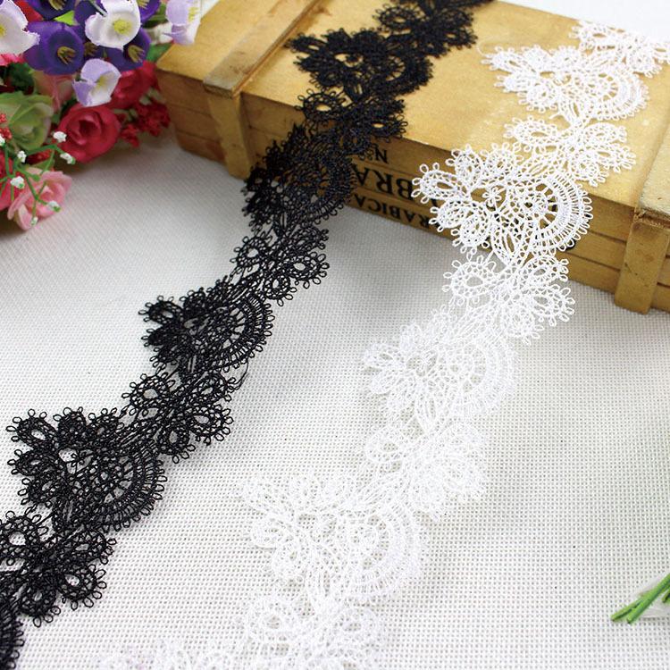DEXINGLONG ren viền 6.5cm chất lượng tốt thêu ren ren phụ kiện quần áo tay áo hem trang trí khăn trả