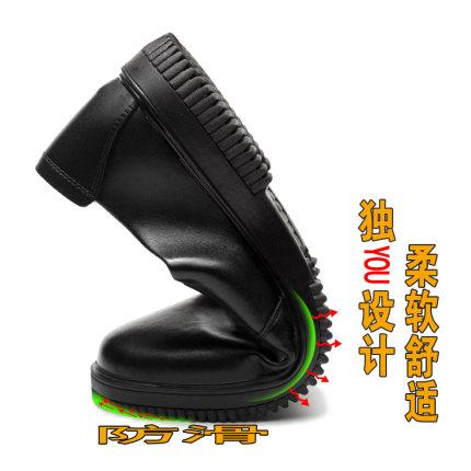 Giày da Bếp đầu bếp giày nam chống trượt không thấm nước và mùa hè thoáng khí nhẹ khách sạn giày da
