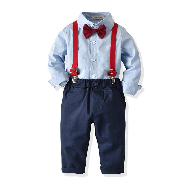 Tem Doger Âu Mỹ Trẻ em mùa xuân và mùa thu phù hợp với bán buôn váy châu Âu và Mỹ áo sơ mi dài tay d