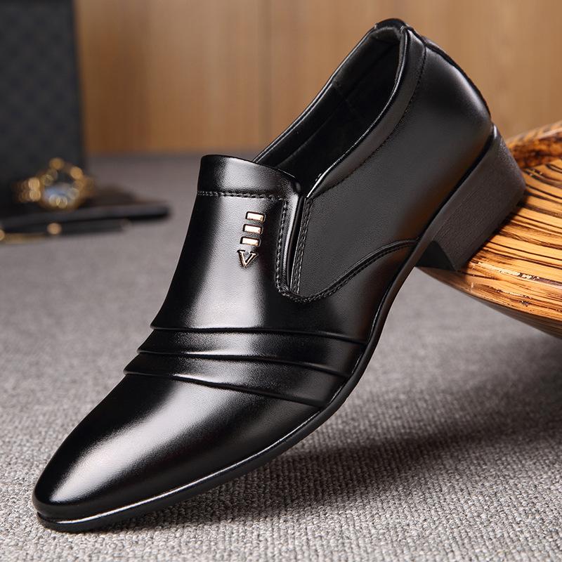 HONGWEIQUE Giày da Xuyên biên giới dành riêng cho các mẫu bùng nổ Giày da mùa xuân 2019 cho nam kinh