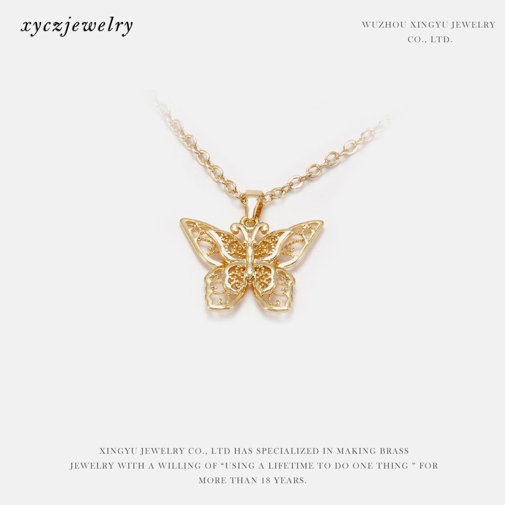 Phụ kiện trang sức dây chuyền hình bươm bướm kiểu thời trang .