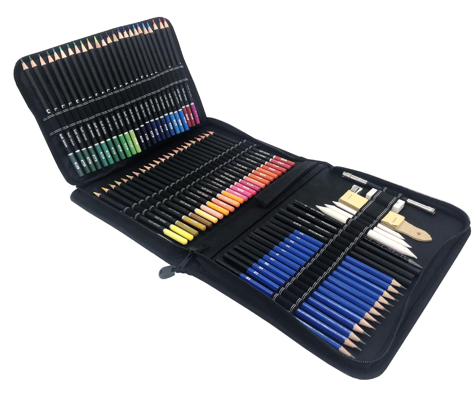 Yover Đồ mỹ nghệ Mới 95 mảnh màu bút chì bộ phác thảo bút chì nghệ thuật cung cấp bộ
