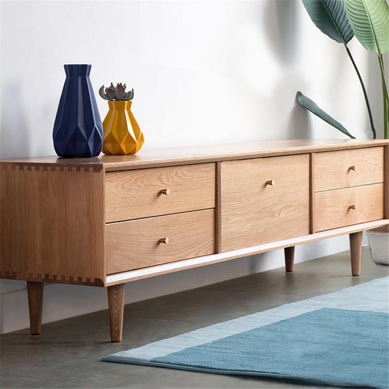 Tủ TV bằng gỗ nội thất cho căn hộ phòng khách .