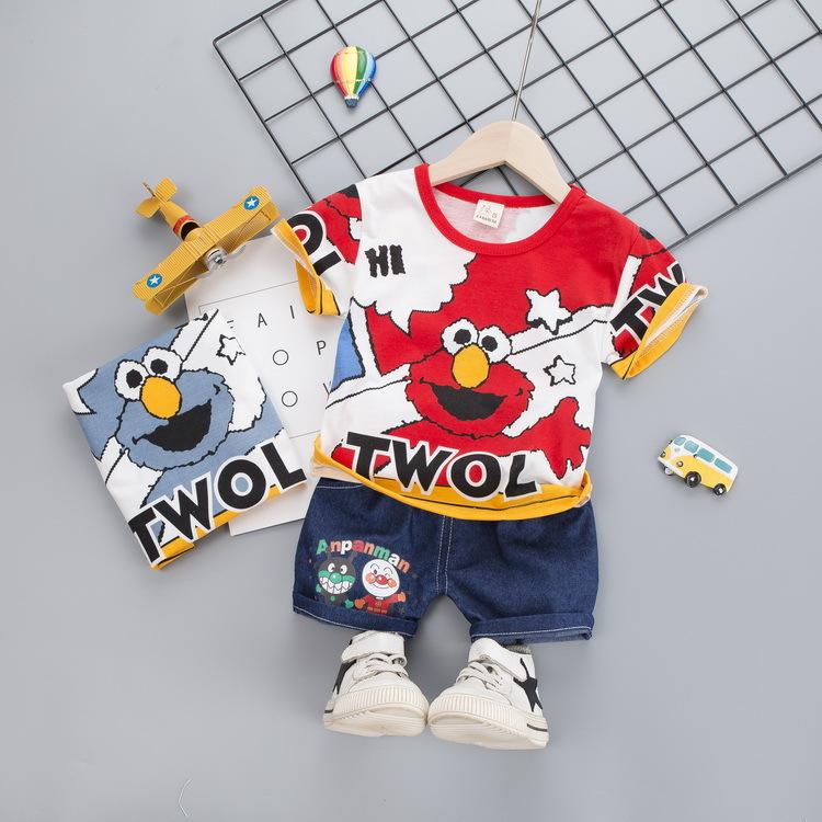 Đồ Suits trẻ em Quần áo trẻ em mùa hè cho trẻ em quần short ngắn tay hai mảnh 2020 mùa hè Quần áo tr