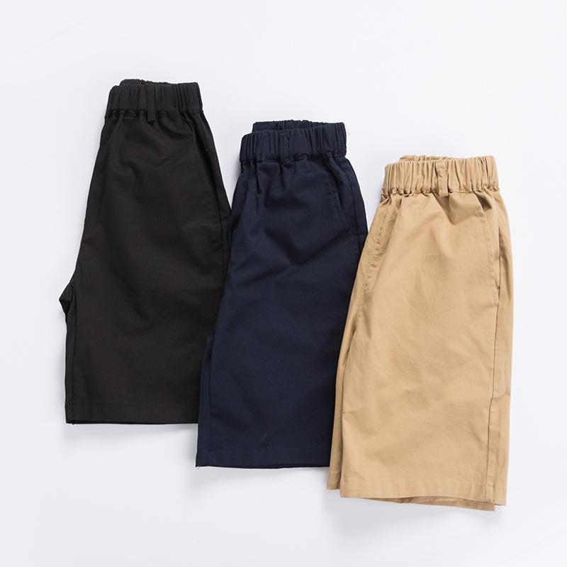 BAOPANGZAI Quần trẻ em Bao béo cậu bé mùa hè trẻ em kaki quần short đen quần năm điểm quần màu xanh