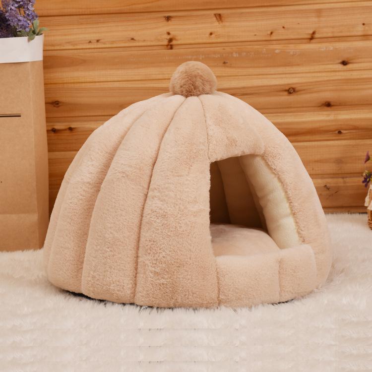 Vật nuôi Nhà máy ngủ sâu tròn kennel mèo nửa kín mèo nhung mùa thu và mùa đông yến sào tổ yến chó nh