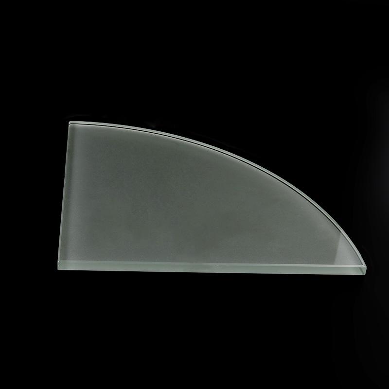 NLSX thủy tinh Cung cấp kính mờ góc vách ngăn kính tùy chỉnh kính mờ tam giác