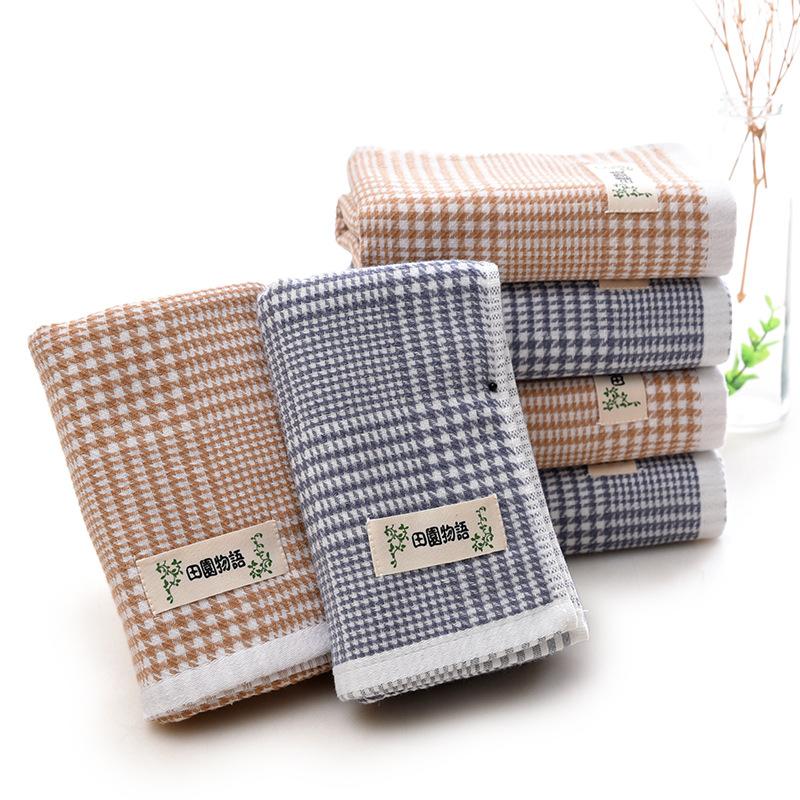 MUMENG Dệt may gia dụng Khăn bông thấm nước houndstooth bông quà tặng người lớn trẻ em khăn trẻ em n