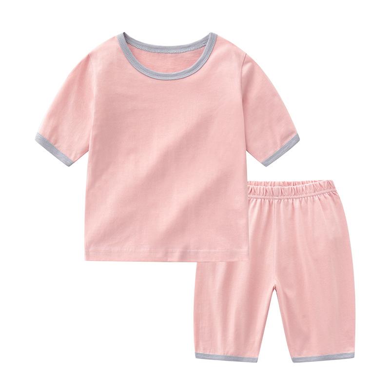 Đồ ngủ trẻ em Bộ đồ ngủ trẻ em cotton nhà mùa hè mới cotton mỏng quần áo điều hòa không khí nhà bình