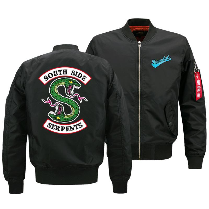 Supremeforce  Áo khoác supremeforce mens riverdale town áo khoác không quân một áo khoác tùy chỉnh