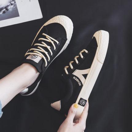 Giày nữ trào lưu Hot  Giày vải nam Giày nữ thoáng khí cho mùa hè 2020 mùa hè mới phiên bản Hàn Quốc