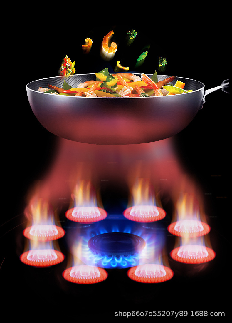 Infrared gas stove embedded double stove domestic liquefied gas energy gathering stove energy saving