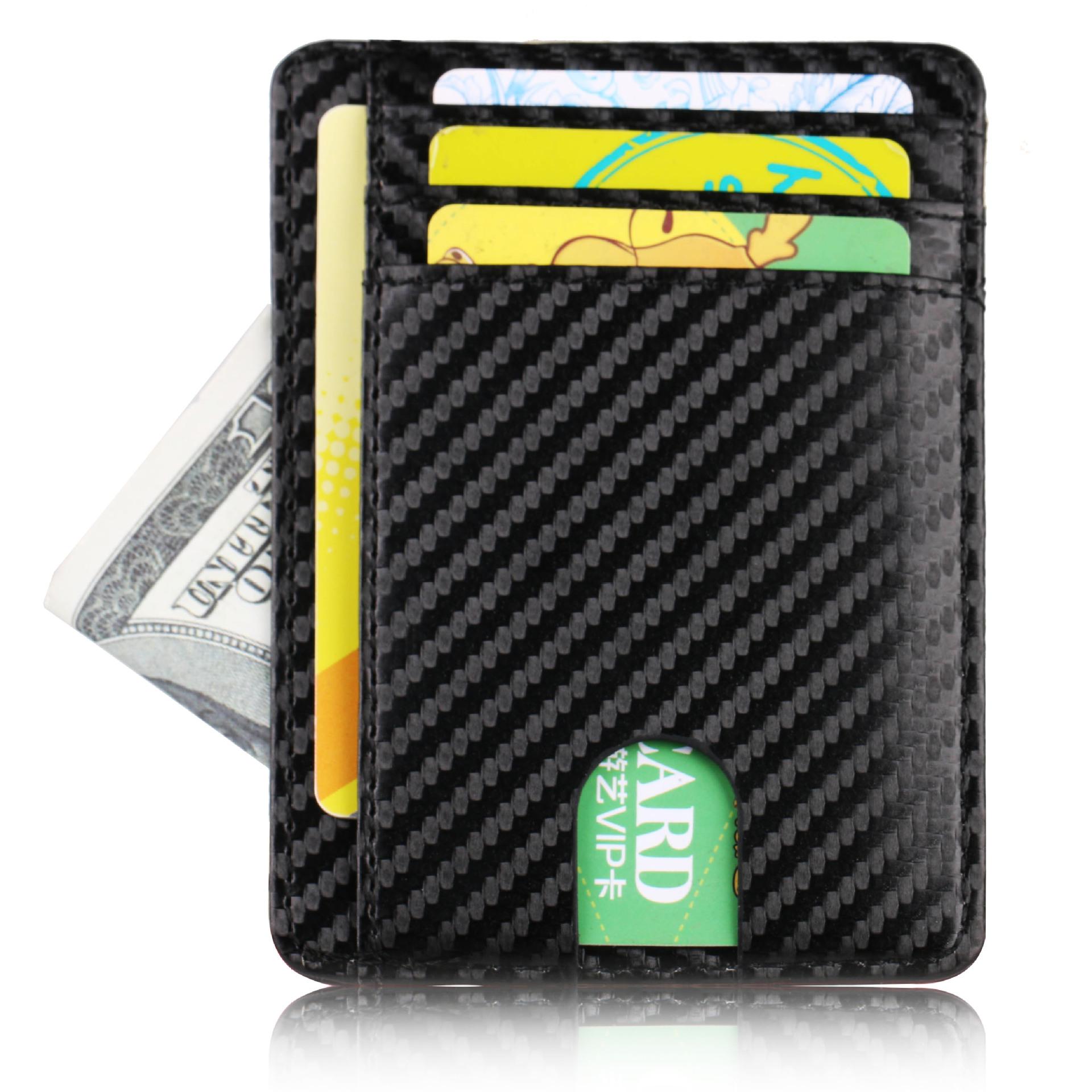 Ví đựng thẻ Bộ thẻ chống mài mòn tại chỗ Bộ thẻ ID chủ thẻ bảo vệ thẻ ngân hàng RFID bộ tài liệu gói