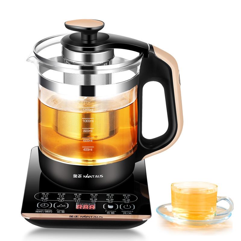 JINZHENG Bình sữa sức khỏe Jinzheng JZW-1220E máy pha trà thủy tinh cách nhiệt ấm trà đun sôi trà đe