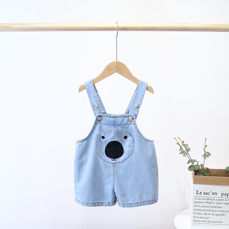 MINILU Trang phục trẻ em mùa hè Bán quần áo trẻ em mùa hè 2020 quần yếm mùa hè phiên bản Hàn Quốc ch