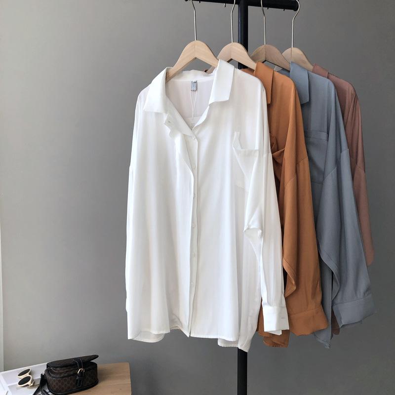 Zhi Cong Xi Áo sơ mi Taochuan Zhi Cong Xi 2020 thiết kế đầu xuân sang trọng đôi cao su rắn màu dài t