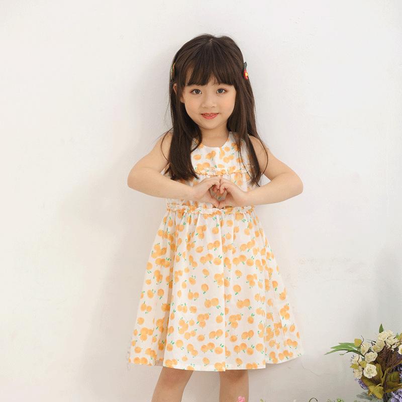 WEIHAI Phong cách Hàn Quốc Mùa hè 2020 Quần áo trẻ em Hàn Quốc 20161 cô gái Hàn Quốc cotton hoa ngắn