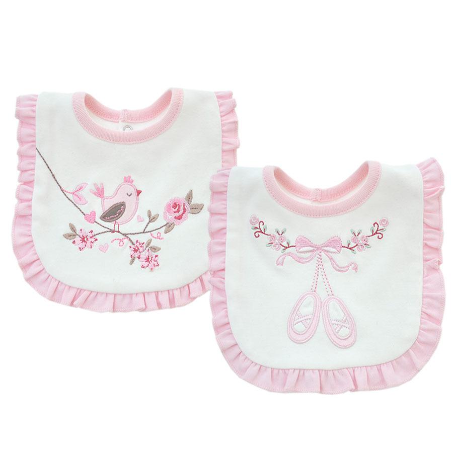 XYDA Thị trường đồ dùng mẹ và bé Ren nước bọt khăn hai lớp cotton thêu yếm nhánh chim