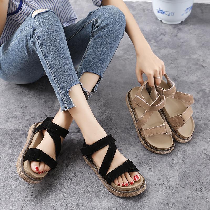 Giày nữ trào lưu Hot 555-17 mùa hè 2020 Phiên bản Hàn Quốc của đôi giày đế mềm mới đế dày đế giày đế