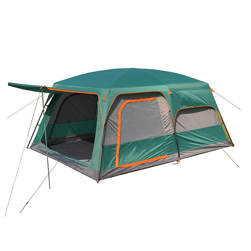 Lều hai lớp ấm áp và không thấm nước dùng cắm trại ngoài trời .