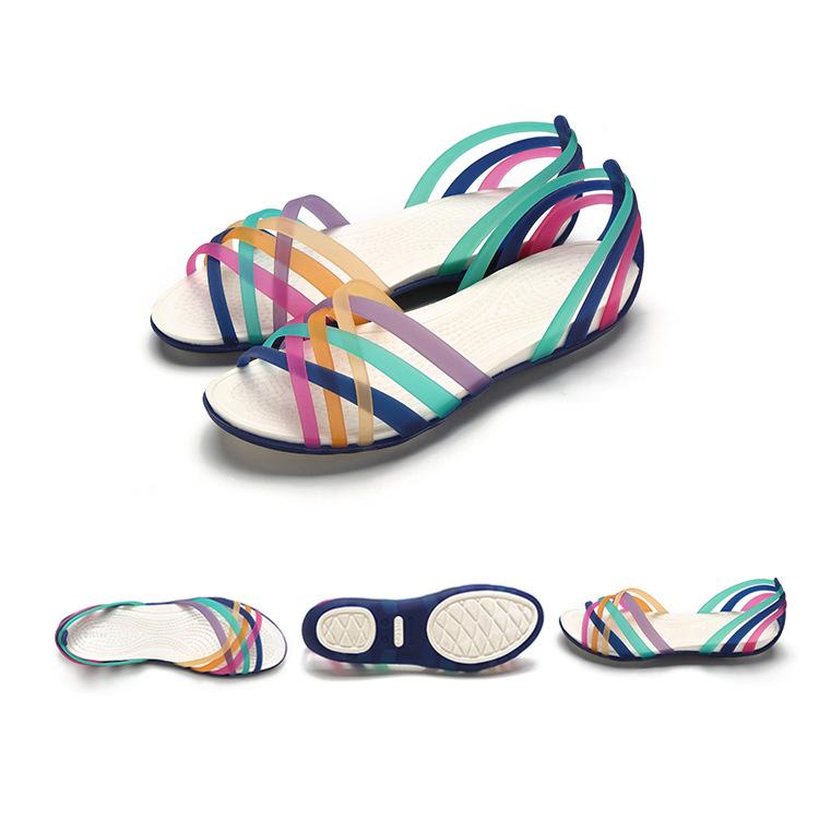 Giày bệt kiểu sandal dây nhiều màu sắc cho nữ .