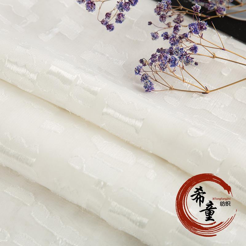XITONG Vải mộc sợi hoá học Nhà máy trực tiếp hóa chất sợi vải voan màu xám, vải voan cắt nhẹ như răn