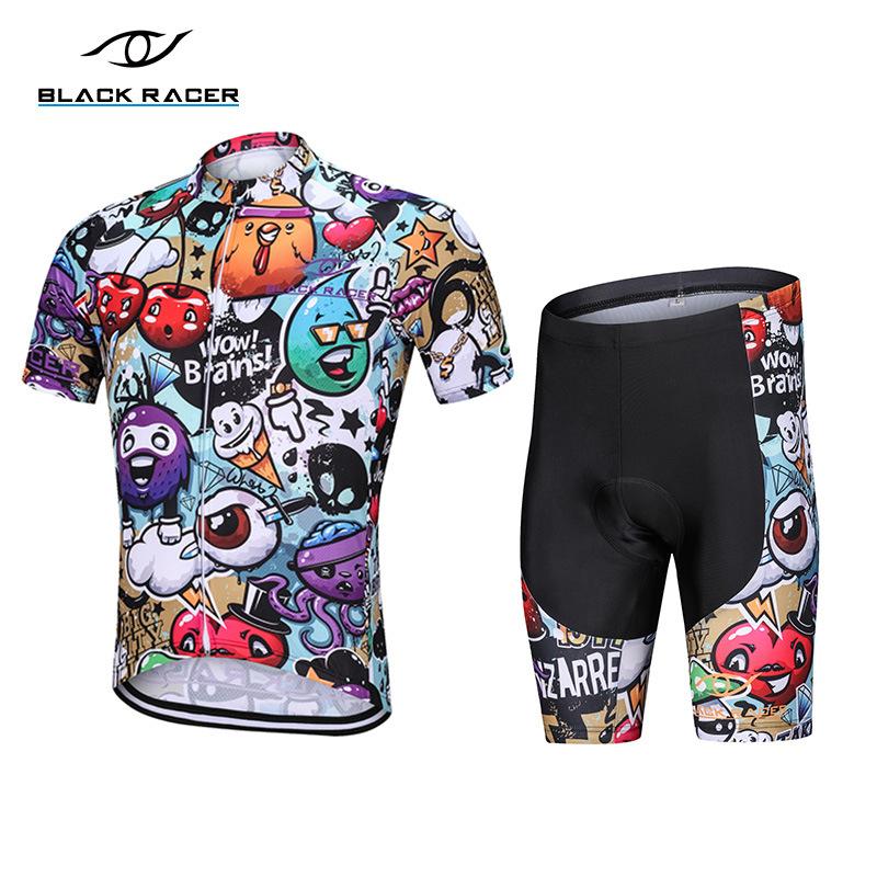 BLACK RACER Trang phục xe đạp mùa hè mới Tour de France leo núi hàng đầu dây đai quần cưỡi phù hợp v