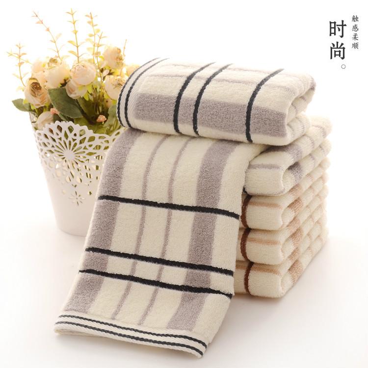 YUXI Dệt may gia dụng Bông nguyên chất 32 dải màu khăn 100g hộ gia đình người lớn rửa mặt mô mặt côn