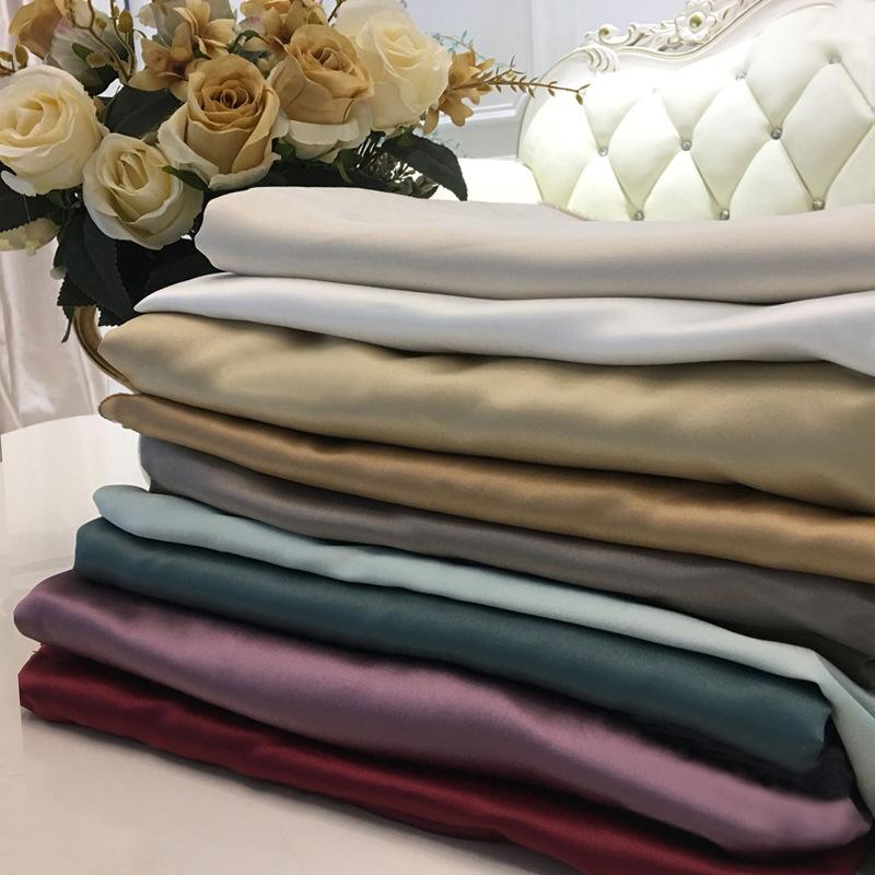 HUANGDAOPO Vải lót Rèm vải nhà máy trực tiếp che rèm vải xen kẽ rèm có độ chính xác cao lót lụa nhân