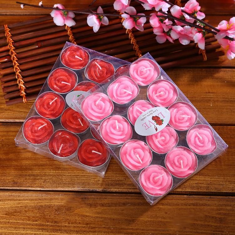 NLSX Nến Ngày lễ tình nhân 12 hộp hoa hồng cầu hôn lãng mạn lời thú nhận trà sáp tùy chỉnh handmade