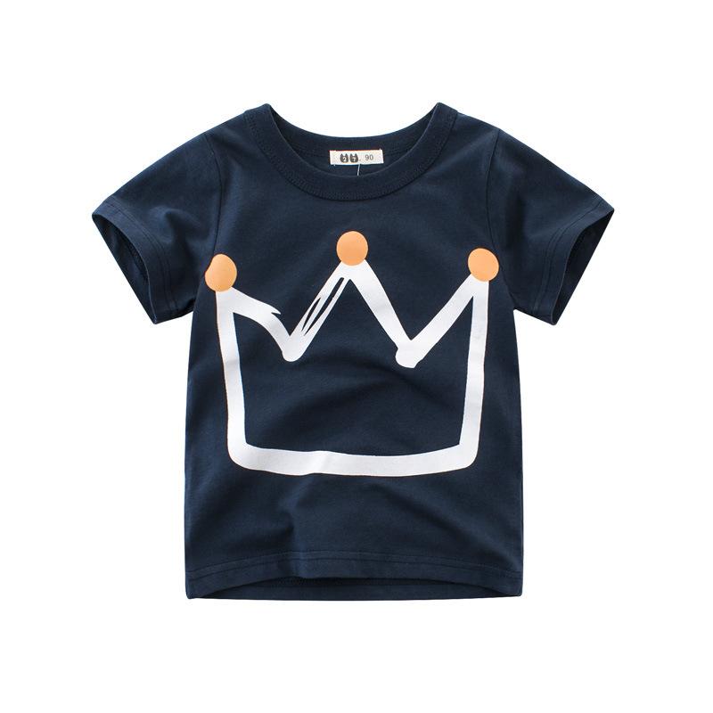 27KIDS Phong cách Hàn Quốc Mùa hè 2020 bé trai mới áo thun ngắn tay trẻ em từ bi Quần áo trẻ em Hàn