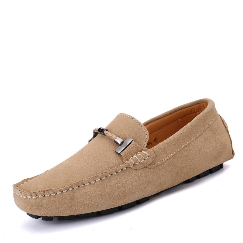 EnllerviiD Giày mọi Gommino Giày nam mùa xuân bằng da mới, giày da nam đế mềm, khâu da, giày da nam,