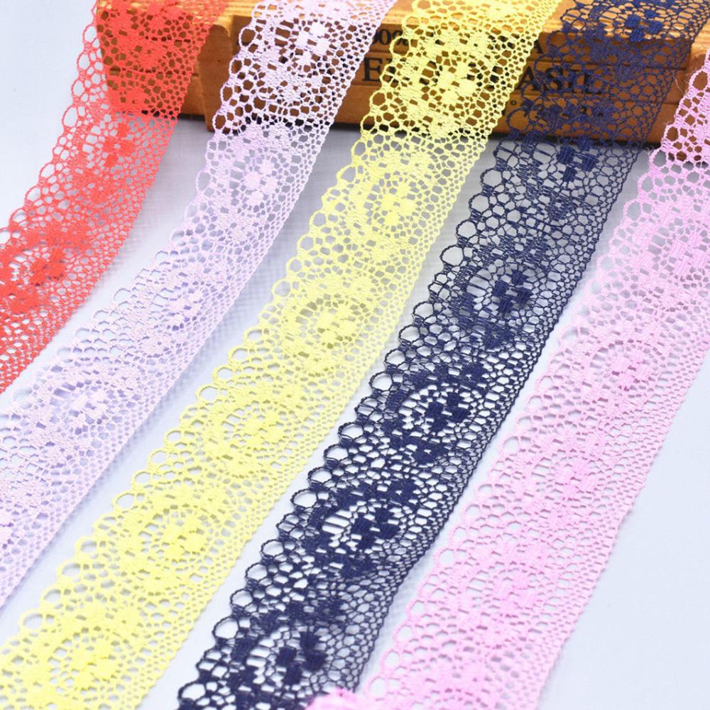 ZHEXIU 10 thước một cuộn polyester xuyên biên giới không căng ren ren hình bán nguyệt ren quần áo đồ