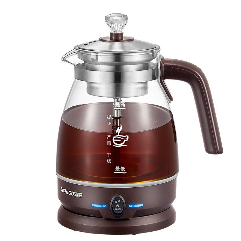 Chigo Máy pha trà Chigo trà đen Pu'er thủy tinh ấm đun nước y tế nồi cách nhiệt hơi nước đun sôi ấm