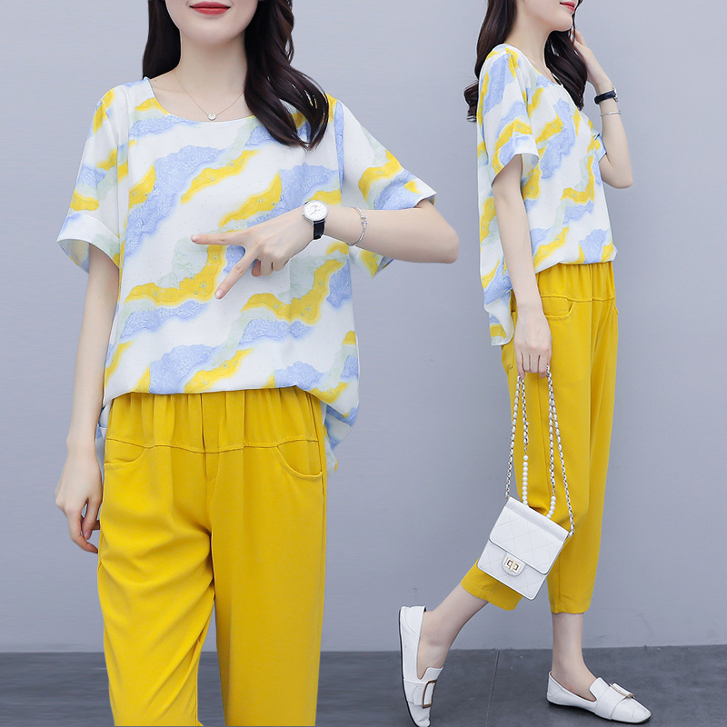 Đồ Suits Fat mm2020 hè mới phiên bản Hàn Quốc của quần áo nữ size lớn là áo khoác mỏng họa tiết hoa