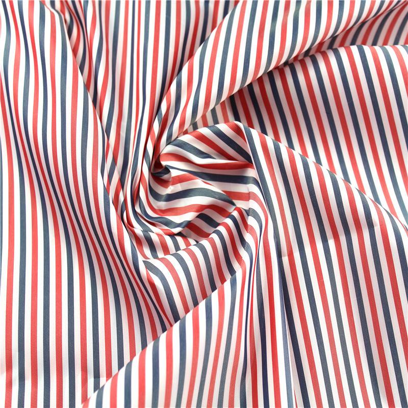 JUNTONG Vải lót Tất cả các sợi polyester dệt tay áo vải satin màu đỏ, màu xanh và trắng phù hợp với