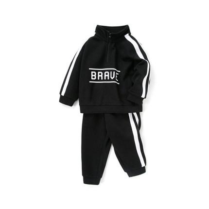 Barabara Đồ Suits trẻ em  boy phù hợp với quần áo trẻ em mùa thu phong cách Hồng Kông đứng cổ áo hai