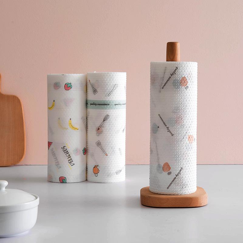QIMO Yiyue lazy outfit printing non-woven cloth dish towel kitchen disposable rag washing pot scouri