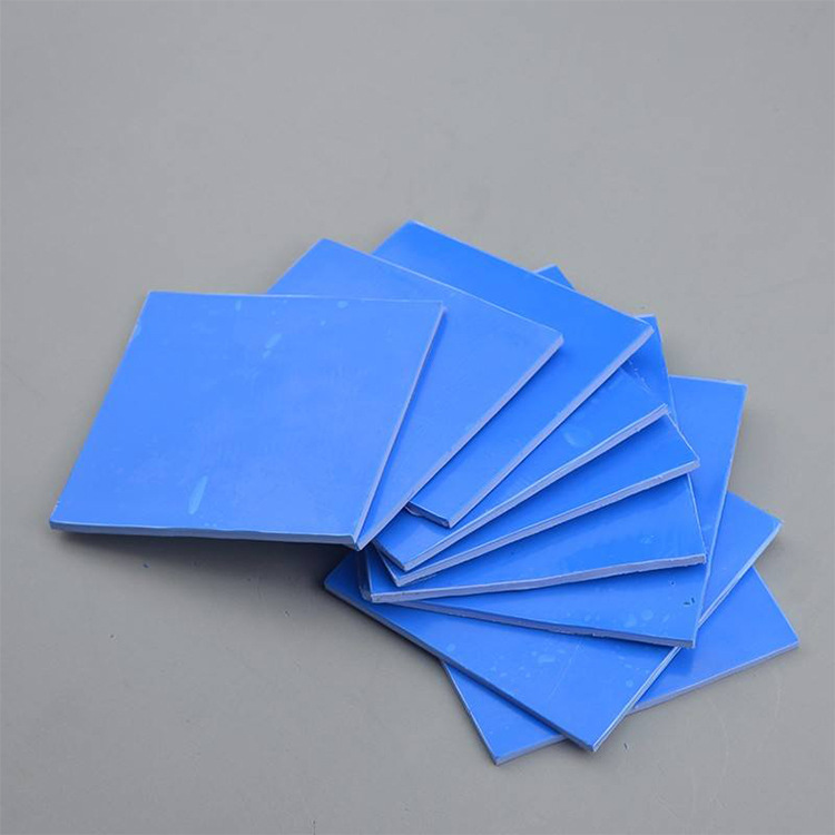 CPU heat resistance blue thermal conductive silicone sheet flame retardant heat dissipation soft ins