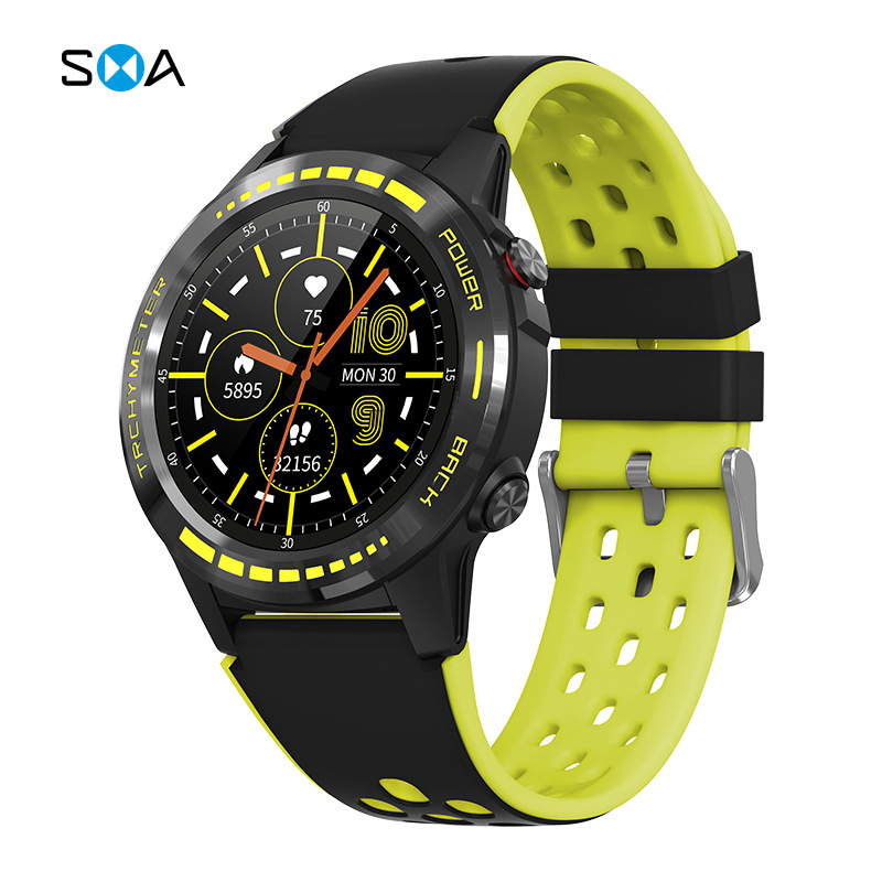 AIBAOHU New M7GPS Sports Watch Heart Rate Blood Pressure Call Multi-sports Mode Compass Altitude Sma