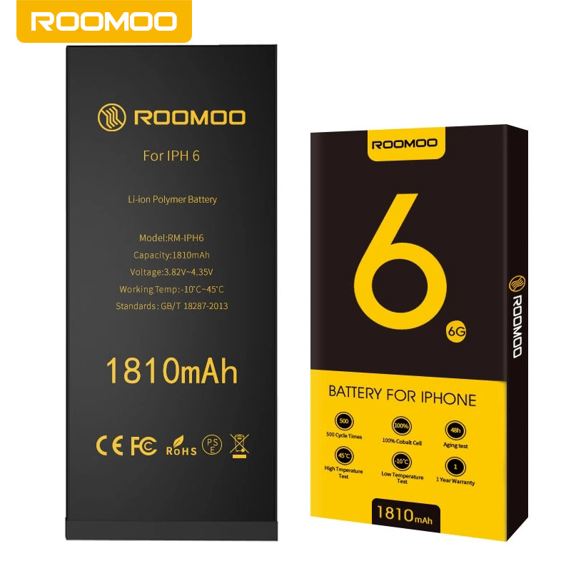 ROOMOO Rongmao brand is suitable for iPhone6/6S/6P/6SP Apple mobile phone battery cycle charging