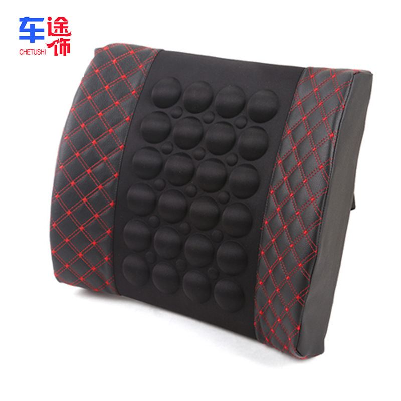 CHETUSHI Car 12v electric massage waist cushion health cushion car waist support car interior access