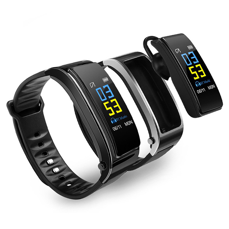 MEISHI Y3plus color screen smart bracelet bluetooth listening to music and calling two-in-one heart