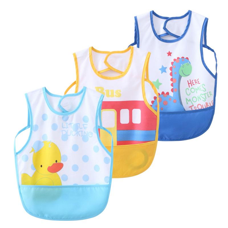 Áo khoác Áo choàng trẻ em lớp A chống thấm nước 3 mảnh yếm bé bib bib bé túi nước bọt khăn bán buôn